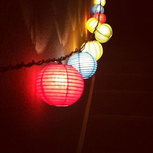 Paperlanterns Lights Colorful Cute deco string stairs