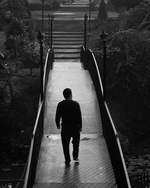 Isolated... Nagaland India Retro Style Retro Single Alone Bridge Walking Candid Photography Isolated Dimapur Black Bridge
