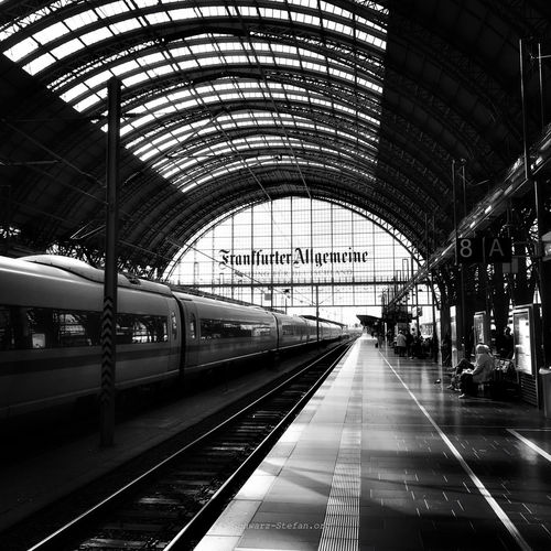 Frankfurt am Main am Bahnhof Arch Architecture Arrival Built Structure Ceiling Direction Incidental People Indoors  Long Mode Of Transportation Motion Public Transportation Rail Transportation Railroad Station Railroad Station Platform Railroad Track Station Subway Train The Way Forward Track Train Train - Vehicle Transportation Travel