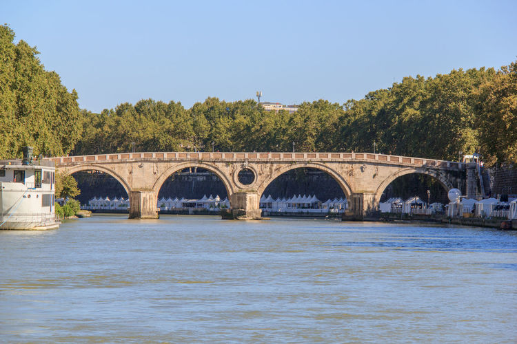Ponte sisto over tiber river against clear sky