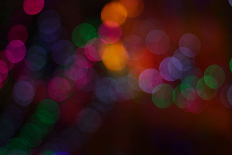 Random light bokeh Defocused Abstract Backgrounds Illuminated Multi Colored Night Light Effect Full Frame No People Shiny