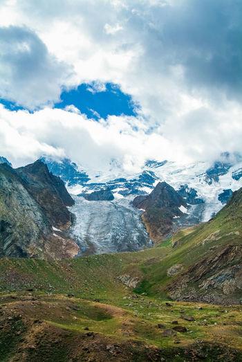 Parkachik Glacier in 'suru valley' on the way from Kargil to Zanskar Beauty In Nature Glacier India Jammu And Kashmir Landscape Leh Leh Ladakh.. Mountain Mountain Range Nature Parkachik Parkachik Glacier Suru Valley Travel