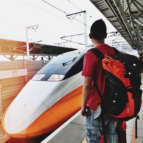 Taiwan Hsinchu Highspeedrail Hsr travel backpack orange speed asia