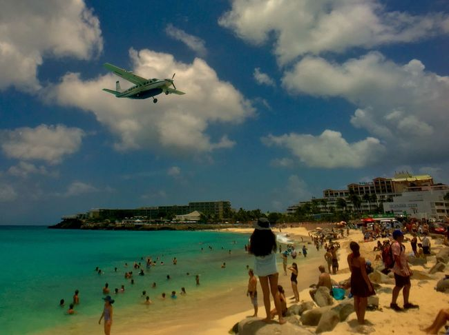 Airplane Beach Adventure Club On The Way Maho Beach Airplane Beach Watching Planes Plane Overhead Plane Spotting Plane Over The Beach On The Beach