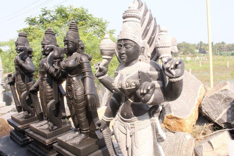 IDOLS MADE OF ROCK Ganesha Godess Handcrafted Handmade Hanuman Hindu Gods Idols India ROCK IDOLS