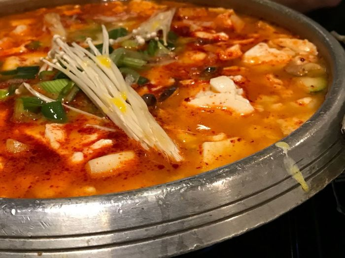 Korean Spicy Seafood Hot Pot Hot Pot Spicy Seafood Soup Korean Food Food And Drink Food Indoors  Soup Ready-to-eat Freshness No People Close-up