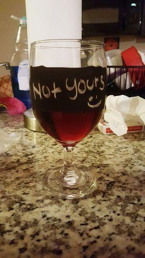 My wine, not yours. Wino