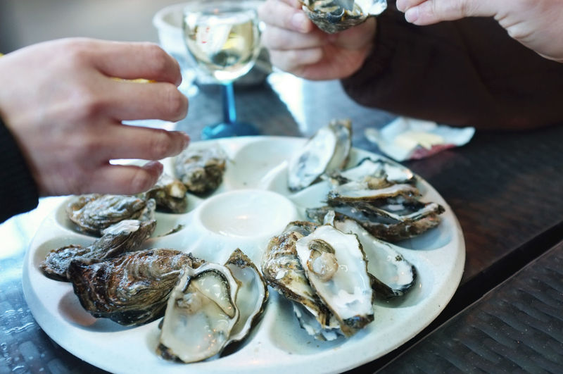 Arcachon Close-up Coastal Eating Food France Freshness Holding Meal Oyster  Oyster Farm Plate Seaside Table Wine Winter