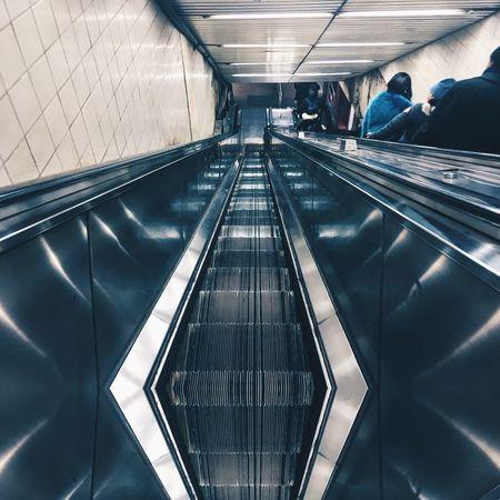 🔺🔻 Herald Square NYC Photography MTA Commute Escalator