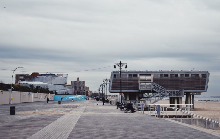 Built Structure Sky Architecture Cloud - Sky Building Exterior Day Outdoors No People New York Coney Island