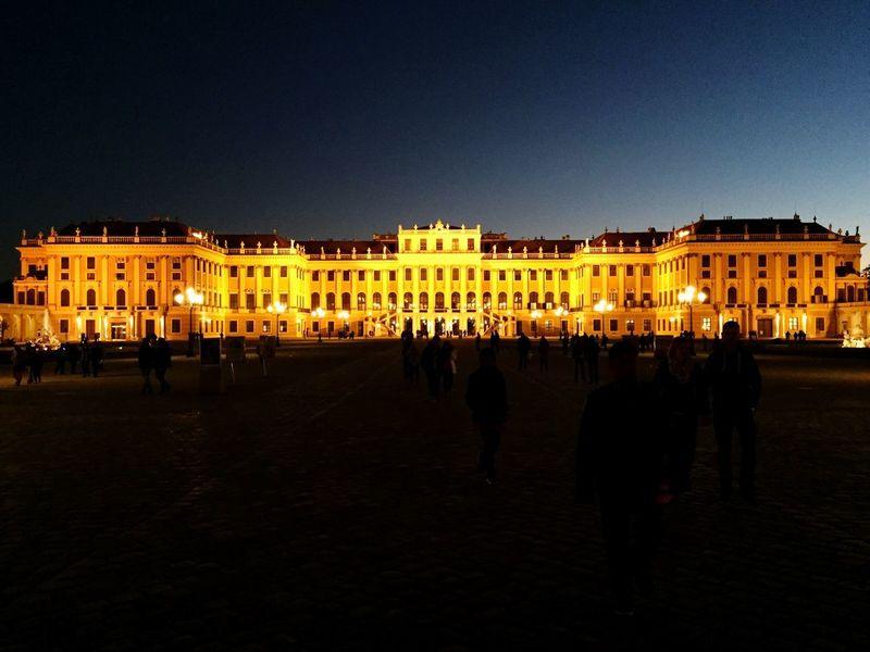 Passing Palaces Palace Hapsburg Yellow Night Royal