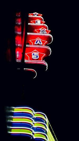 The light of TEXAS. Texas Texas Theatre Oak Cliff Neon Lights Neon Night Taking Photos In The Night Dallas