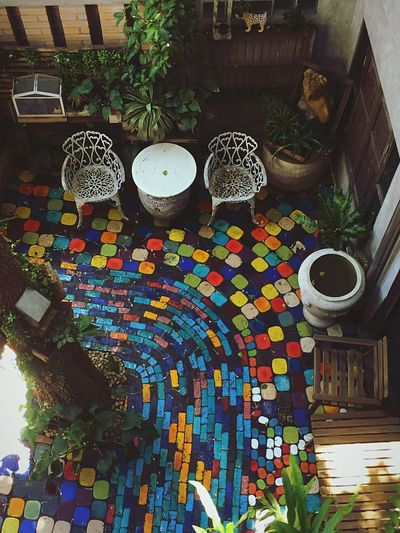 Creativity Table Art And Craft High Angle View Indoors  Multi Colored Home Interior Chair Plant Day Enjoying Life Taking Photos EyeEm Gallery