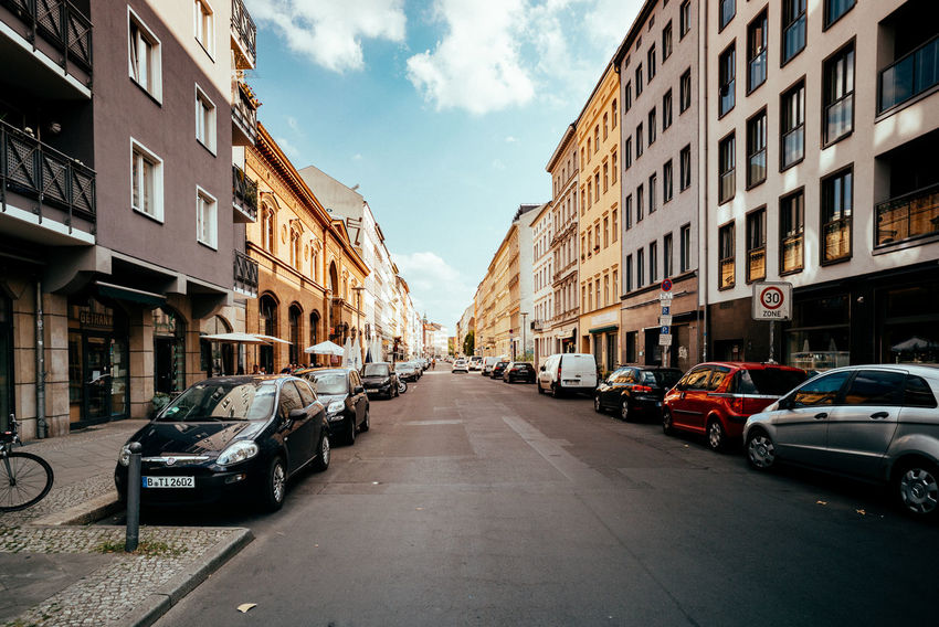 Mitte district The Street Photographer - 2018 EyeEm Awards Urban Geometry Apartment Architecture Berliner Ansichten Building Building Exterior Built Structure Car City City View  Cloud - Sky Day Diminishing Perspective Direction Mode Of Transportation Residential District Residential Structure Road Sky Street Streetphotography The Way Forward Transportation Urban