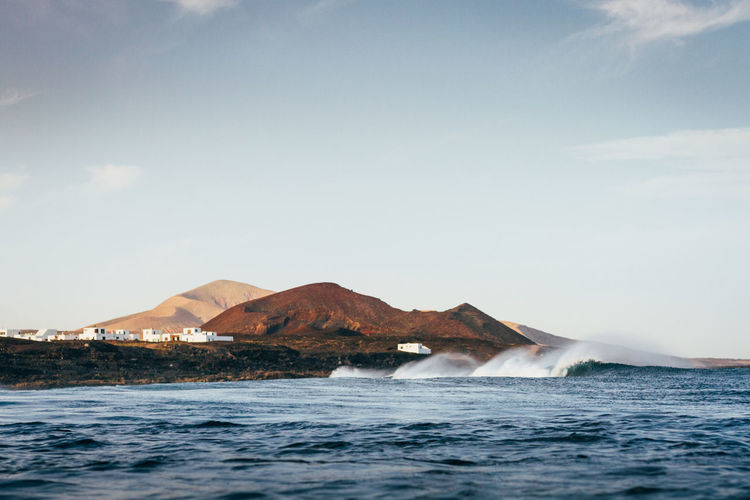 Beauty In Nature Canarias Canary Islands Day Eye4photography  EyeEm Nature Lover Landscape Landscape_Collection Lanzarote Mountain Nature No People Ocean Outdoors Scenics Sea Surf Surfing Tranquil Scene Tranquility Vulcano Water Wave Waves Waves, Ocean, Nature