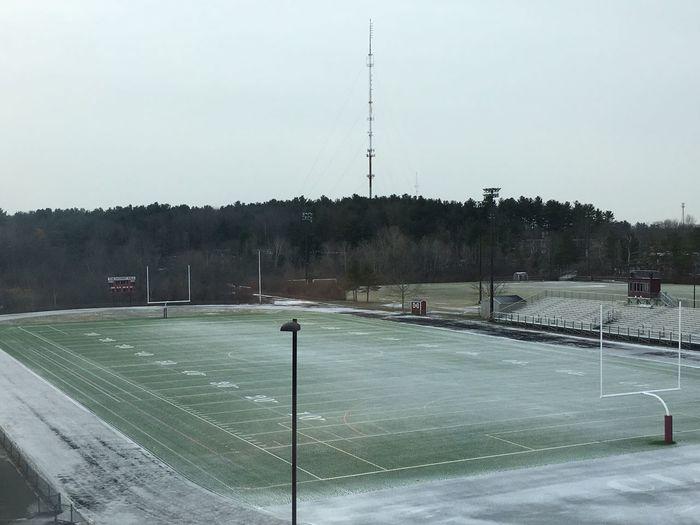 Showcase: January Snow In January Snow Football Field