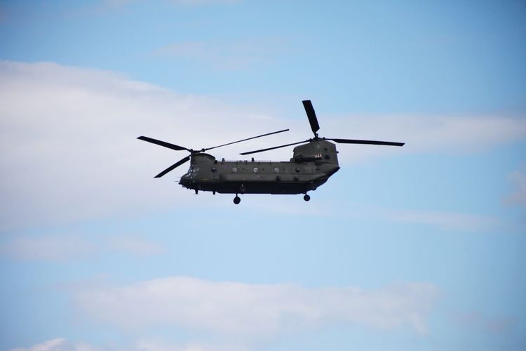 A side shot of a chinook