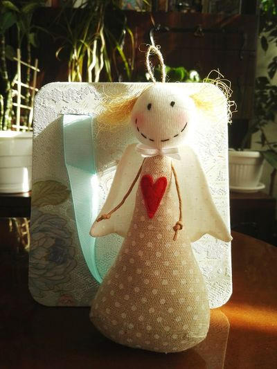 Santa has come a bit earlier this year Handmade For You Angel Christmas At The Office Christmas Decorations Christmas Angel Christmas Time Christmas Is Coming Christmas Present Stuffed Toy Close-up No People Showcase December Presents B4 Christmas Present From A Friend