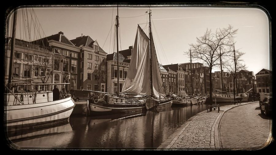 City Outdoors Boats⛵️ in Monochrome Photography Sepia_collection Enjoying The View Back In Time Light And Shadow