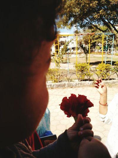 Child Outdoors Sunlight Body Part Women Hand Day Tree Leisure Activity Vidisha India Mobile Photography Sunlight ☀ Flower In Hand
