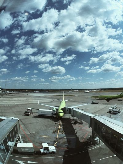 Domodedovo. S7 S7 Airlines S7 Moscow Russia Airport Sky Cloud - Sky Water Transportation Nature Day No People