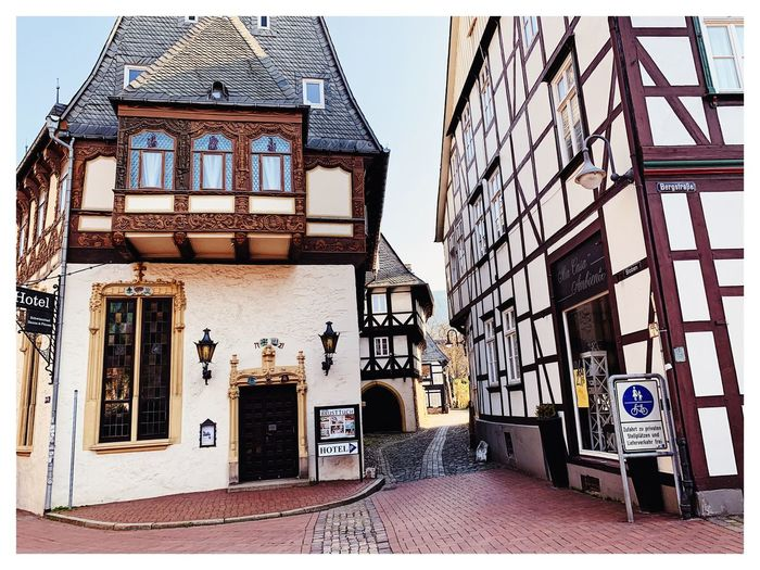 Märchenstadt Fachwerk Fachwerkhäuser Goslar Germany Goslar - Harz Kaiserstadt Goslar City Architecture Built Structure Building Exterior Transfer Print Auto Post Production Filter Day No People Building City Outdoors