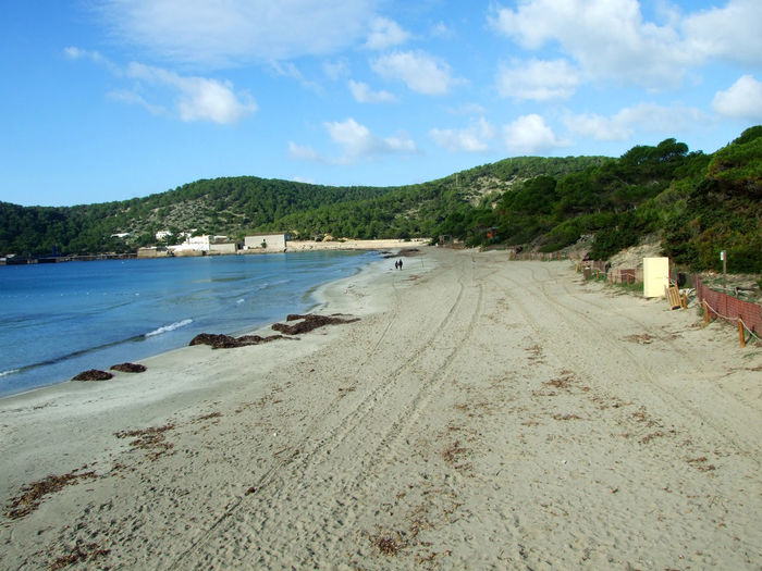View of Ses Salines beach in Ibiza, Spain Coastline Ibiza Illes Balears Mediterranean  Natural SPAIN Ses Salines Touristic Travel Balearic Islands Beach Coast Island Islas Baleares Landscape Mountain Nature Ocean Outdoors Sea Sea View Seaside Shore Tourism Water