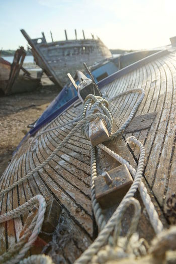 Close-up of ropes