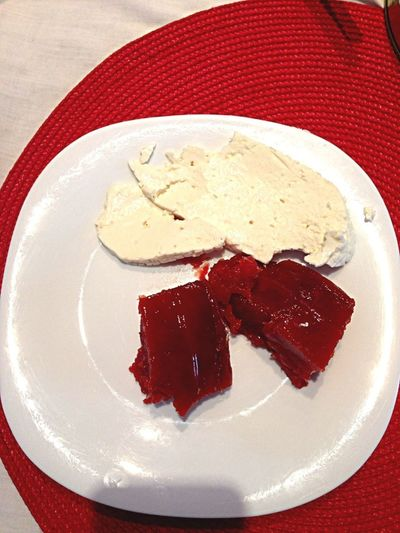 Brazilian Dessert:  Guava Paste With White Cheese