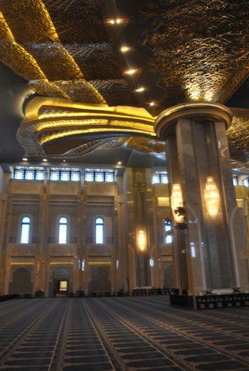 Kuwait City Masjid Al-Kabir Architectural Column Architecture History Illuminated Indoors  Mosque Architecture