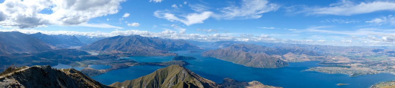 Roys Peak Mountain Nature Beauty In Nature Sky Scenics Tranquility Tranquil Scene