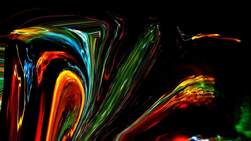 SAO PAULO BRAZIL Abstract Black Background Illuminated Motion Multi Colored Night No People Outdoors