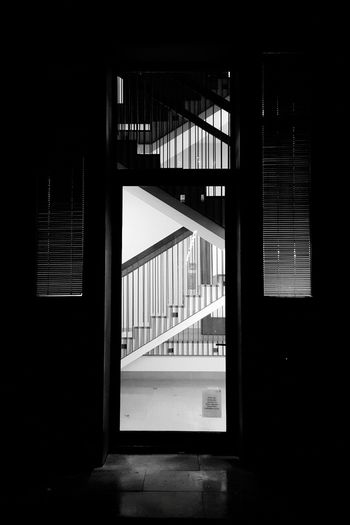 Frankfurt Am Main City Life Light At Night Night Lights Night Photography University Campus Black And White Blackandwhite City Steps And Staircases Staircase Steps Spiral Staircase Architecture Built Structure Building Exterior Exit Sign Closed Door Door Entryway Entrance Doorway