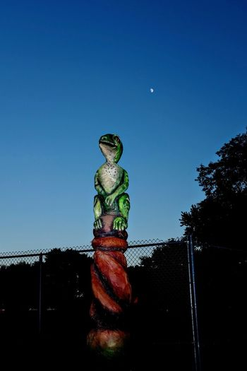 A day in the Life. August 12, 2016 Friend, Nebraska 35mm Camera Americans Camera Work Clear Sky Color Photography Dusk EyeEm Best Shots Eyeemphoto FUJIFILM X100S Low Angle View Moon Nebraska Off Camera Flash Park - Man Made Space Photo Essay Rural America Sculpture Selects Shoot Your Life Sky Small Town Stories Storytelling Summertime The United States Totem