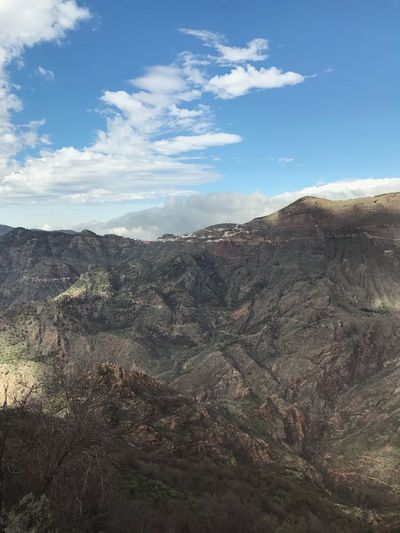 Gran Canaria Mountain Mountains Beauty In Nature Nature Landscape Day Outdoors Sky No People Tranquil Scene Tranquility Scenics Physical Geography Wilderness Mountain Range Arid Climate