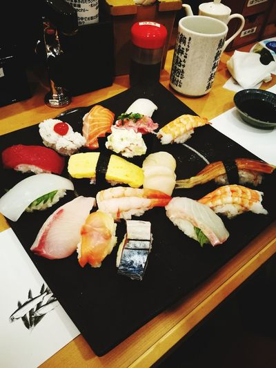 Sushi Japanese Food Food Food And Drink Seafood Freshness Ready-to-eat Healthy Eating Indoors  Rice - Food Staple Serving Size Plate Table No People Sashimi  Appetizer Close-up Day