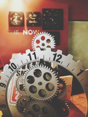 Time Machine Part Clock Machinery No People Indoors  Gear Red Technology Clockworks Close-up Minute Hand Clock Face
