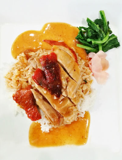Roast Duck With Rice Close-up Day Eating Food Food And Drink Healthy Eating Plate Ready-to-eat Rice Roast Duck Roast Duck With Rice Thaifood