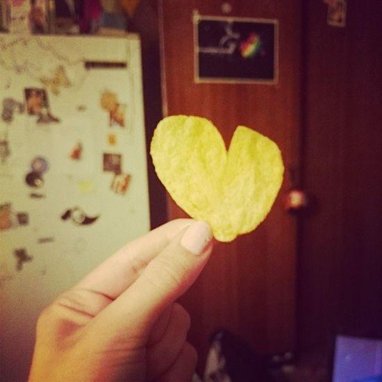 Lays ♥ тебя ? Lays Love Heart сердечко чипсы любовь еда