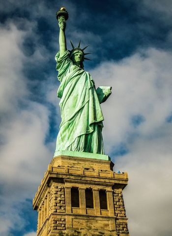United States New York Libertystatue  Traveling The Tourist