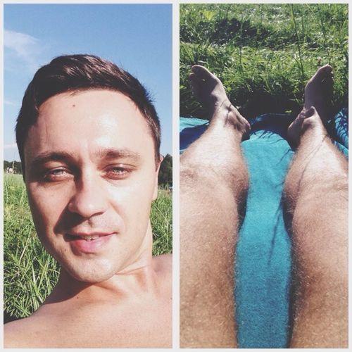 Sunbathing Relaxing Summer Saint Petersburg
