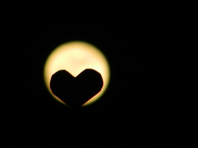 Heart Shape Love Romance No People Single Object Flame Close-up Astronomy Nightphotography PaperHeart