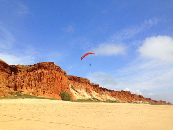 Lone glider Beach Beach Photography Beachscape Algarve, Portugal Algarve 2016 Praia De Falesia