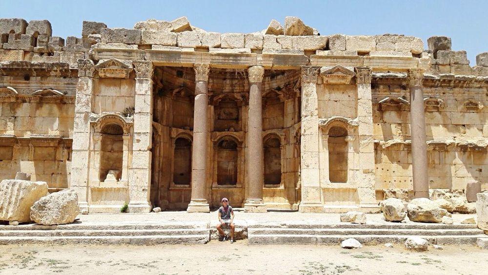 Boyfriend in Roman Temple Baalbek Baalbek Lebanon Tourism Photo Of The Day 😌💕 Blessed