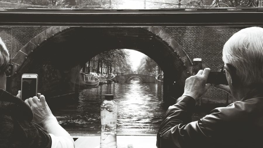 Hanging Out With The Tourists Taking Photos Hello World Amsterdam Canal Nature Vs City