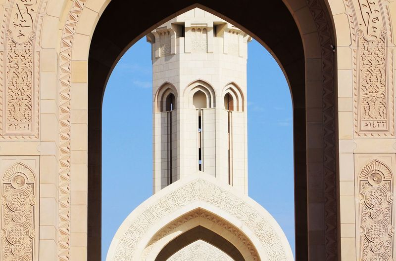 Cropped View Of Mosque Tower