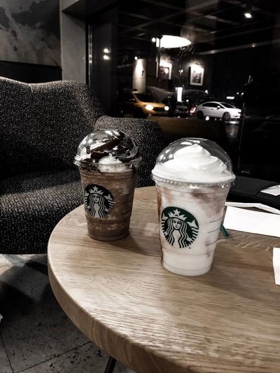 checked in. @starbuckscoffee Istanbul Airport Waiting Coffee Starbucks Indoors  No People Close-up Day Architecture
