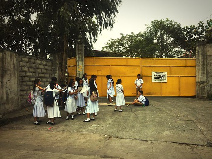 Philippines Traditional Playing Games Tinikling Dance School School Life  Children Playing Philippines Photos Everyday Lives Localscene Eyeem Philippines EyeEm Gallery Manila People Together