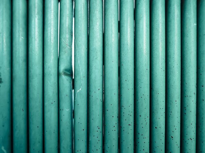 Full frame shot of green pipe
