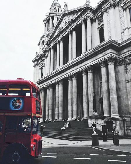 Red City Architecture Built Structure Outdoors Cultures No People Day London United Kingdom Bus Travel Travel Destinations Travel Photography Church Welcome To Black EyeEmNewHere
